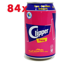 84 latas Refresco Clipper de Fresa 33 cl