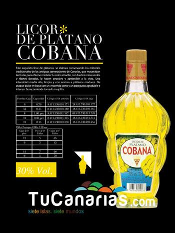 Licor de Platano de Canarias Cobana