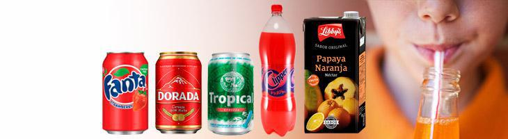 Soft drinks, beers, juices, milk and cofe from canary islands