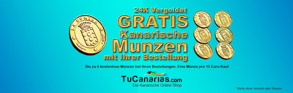24 kt Gold Plated Coins FREE with your orders in TuCanarias.com