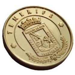 13 Unity Coins from Tenerife, Canary Islands. 24K Gold