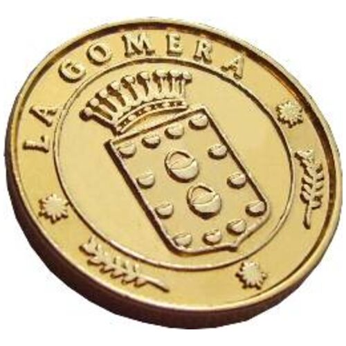 13 Unity Coins from La Gomera, Canary Islands. 24K Gold
