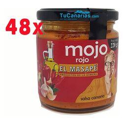 48 udes Mojo Rojo Artesano El Masape 220g. Gomera