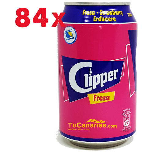 84 Latas de Clipper de Fresa de 330 cc Venta al Mayor