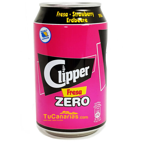Refresco Clipper de Fresa Zero 330 cc