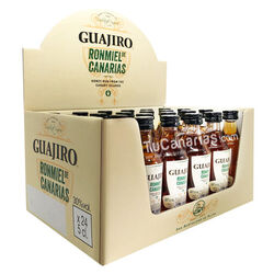 24 Miniature Honey Rum Guajiro 30% - Free Customized