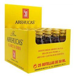 25 Mini botellas Ron Arehucas Oro Personalizacion Gratis