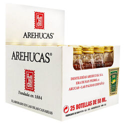 25 Banana Liqueur Arehucas Mini bottle - Free Customized