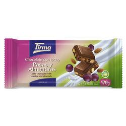 Chocolate Tirma Pasas y Almendras Maxi 170g