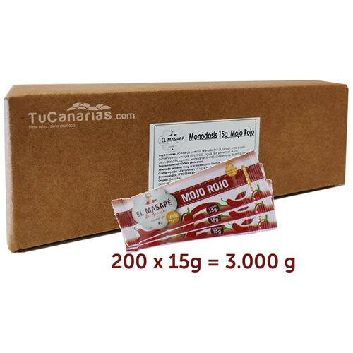 Monodosis Mojo Rojo Restaurantes Horeca 200 unidades TuCanarias.com
